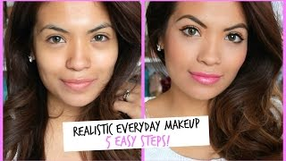Realistic Everyday Makeup | 5 Easy Steps! Belinda Selene