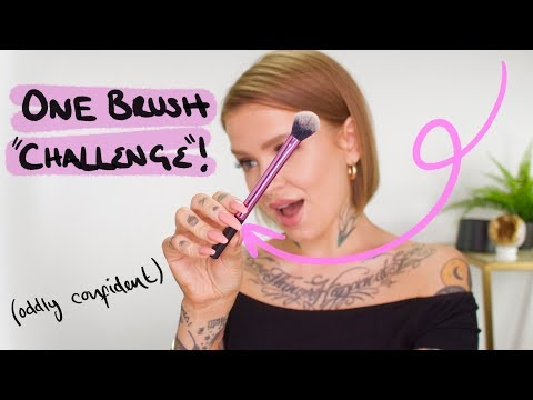 1 BRUSH MAKEUP CHALLENGE thumbnail
