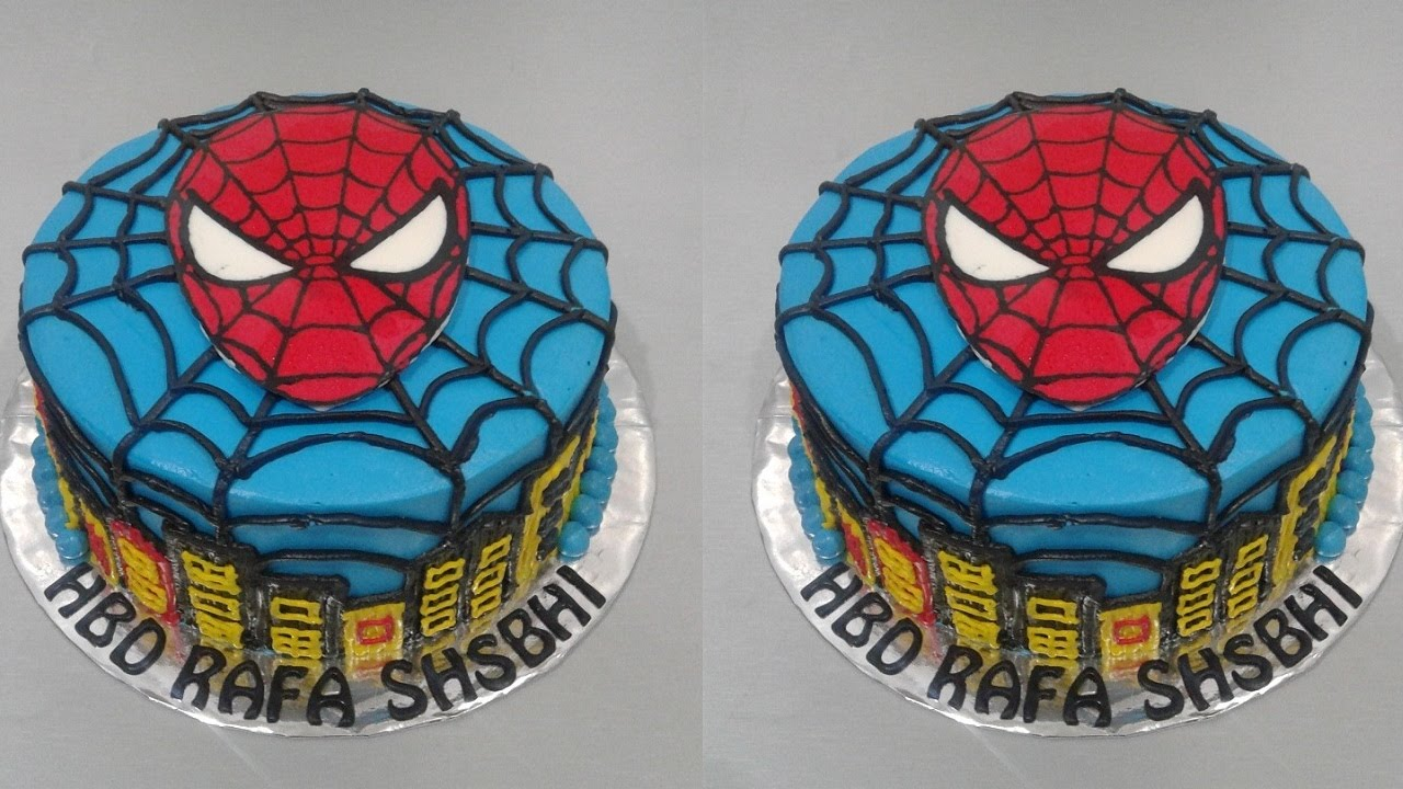 Spiderman Cake Tutorial Easy How to Make Birthday Cake YouTube