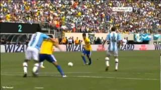 اهداف الارجنتين 4-3 البرازيل 09-06-2012