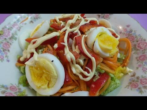Калорийность салат из пекинской капусты с огурцом