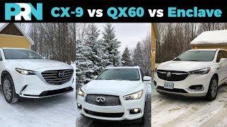 Mazda CX-9 vs Infiniti QX60 vs Buick Enclave | TestDrive Showdown
