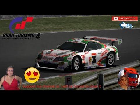 Gran Turismo 4 Toyota Castrol Tom's Supra Grand Valley Speedway Raceway Race Test Gameplay ITA