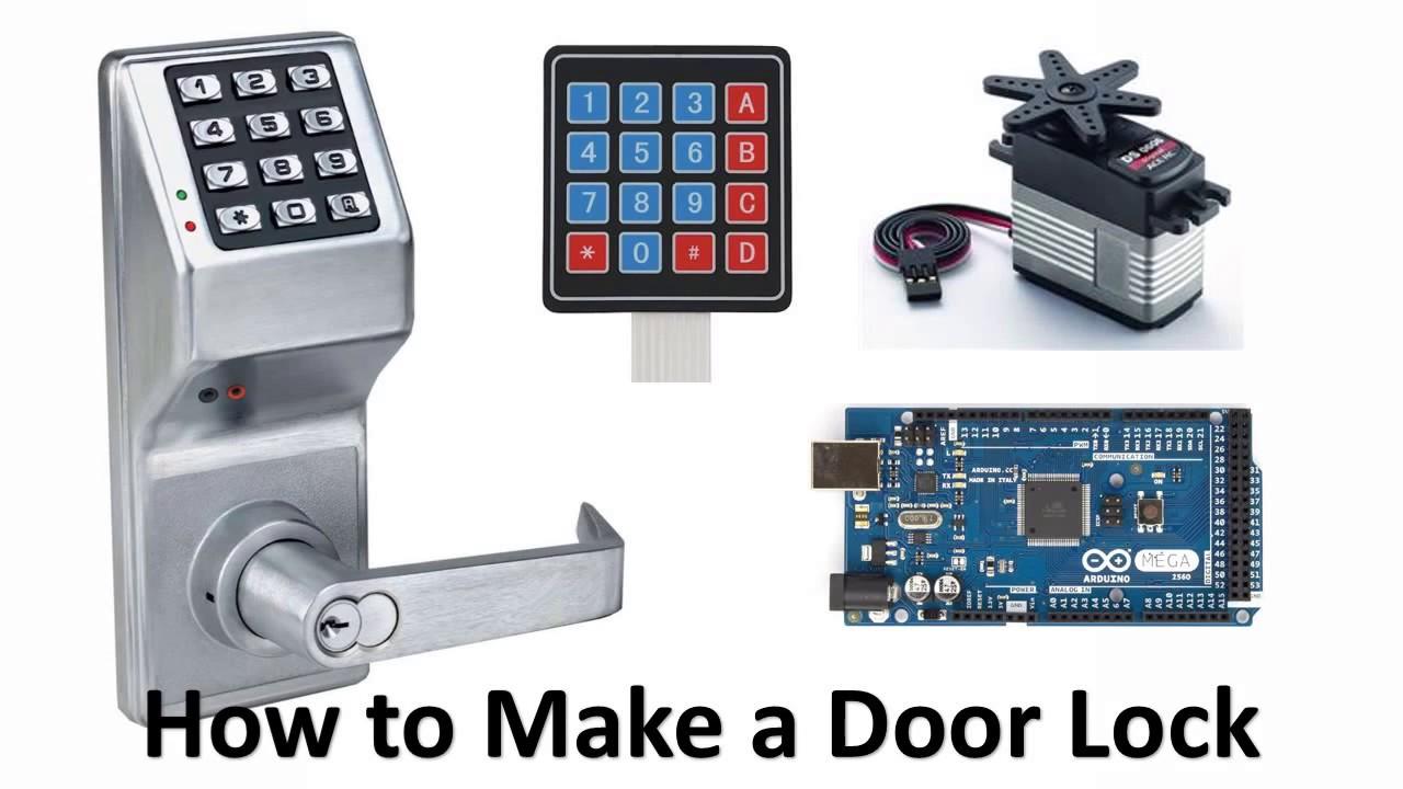 How To Make A Servo Door Lock Simple Youtube