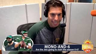 The Jets could start the season 0-6 I D.A. on CBS (from the Coming in Hot segment)