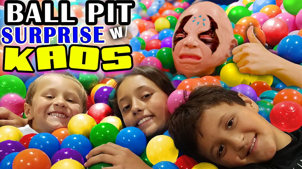 BALL PIT SURPRISE Kids Toy Diving Challenge w KAOS 🙎 who is a