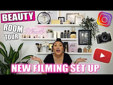 EXTREME BEAUTY ROOM MAKEOVER | FILMING SET UP FOR MAKEUP BEAUTY VIDEOS thumbnail