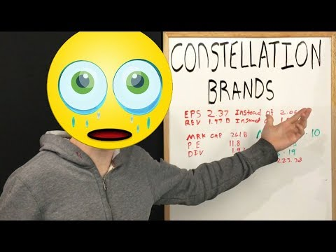 Constellation Brands stz down %10 on earnings why?!