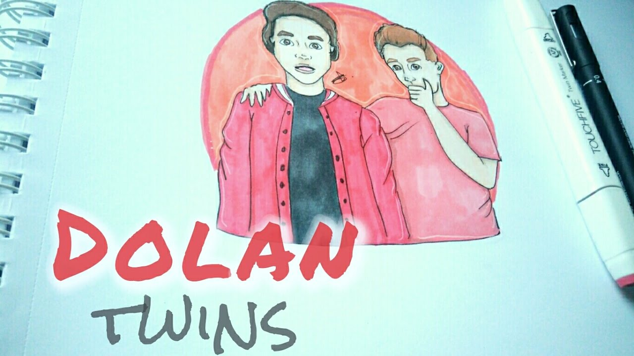 Drawing Dolan Twins Drawing Youtubers Episode 2 Youtube