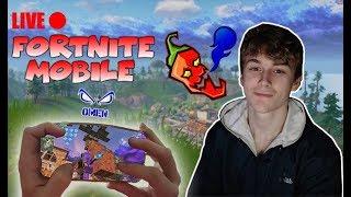 FORTNITE MOBILE - MOBILE TFUE! GOD SKILLS! / Fat DUBS / Iphone 8+ 4 Finger Claw God! Scrim Solo God!