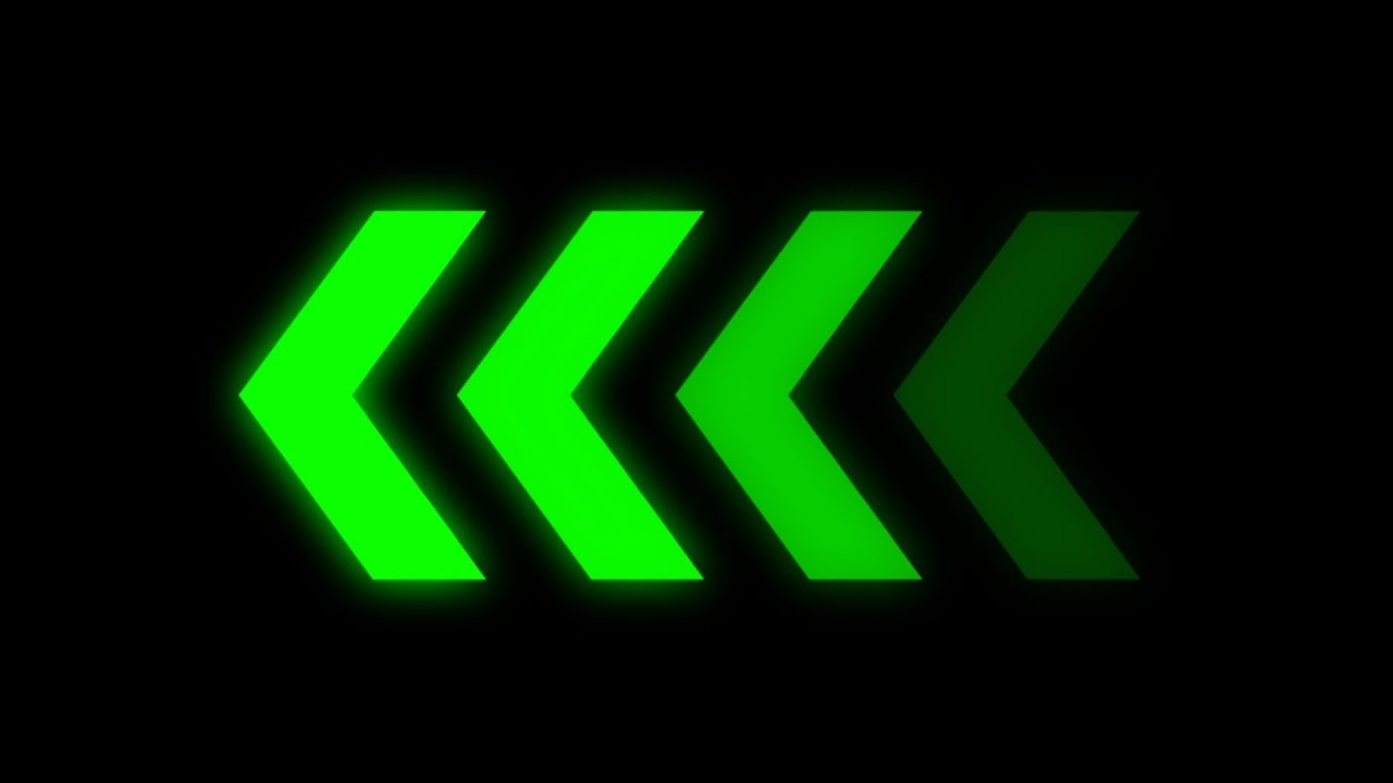 animated green arrows - YouTube