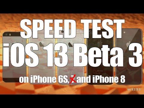 Speed Test : iOS 13 Beta 3 versus iOS 12.3.1 (Build 17A5522f)