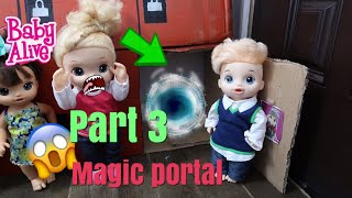 BABY ALIVE  Finds Magic Portal At School Part 3 baby alive videos