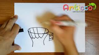 How to Draw a Basketball Hoop Step by Step