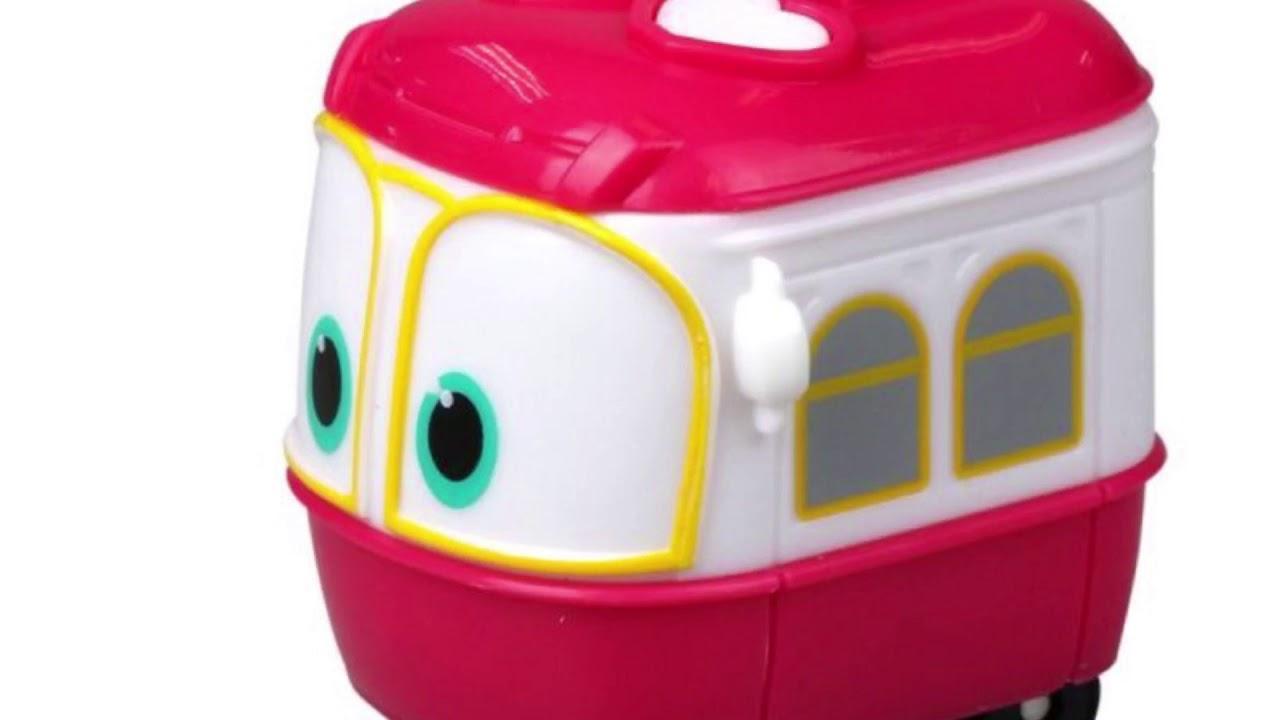 Роботы поезда в реальной жизни - YouTube