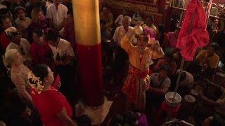 Devotees dance for Myanmar party spirit