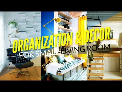 20 Organization Projects and Decoration for Small Living Room