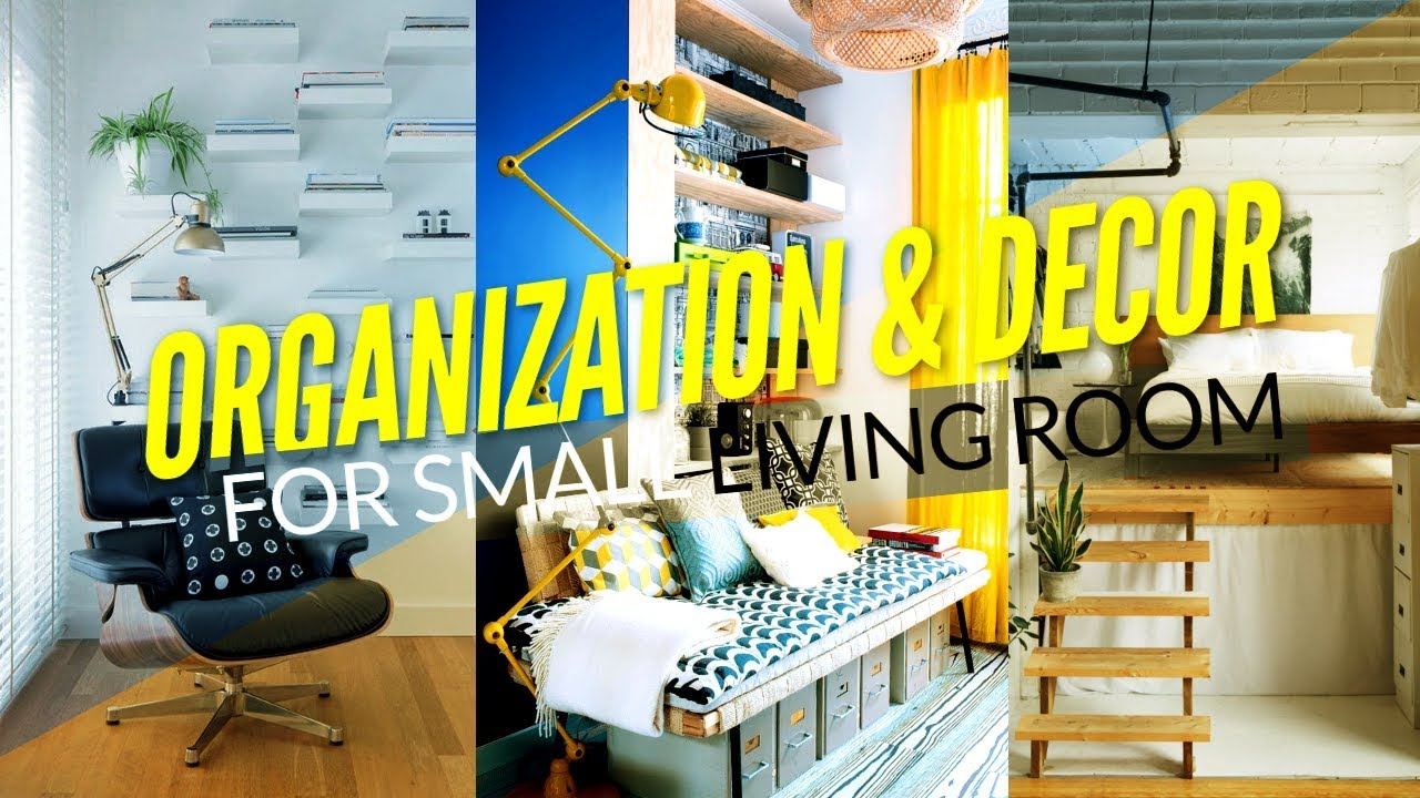 20 Organization Projects and Decoration for Small Living Room - YouTube