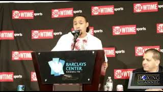 WELTERWEIGHT CHAMP KEITH THURMAN TALKS TO THE MEDIA