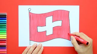 How to draw and color the National Flag of Switzerland