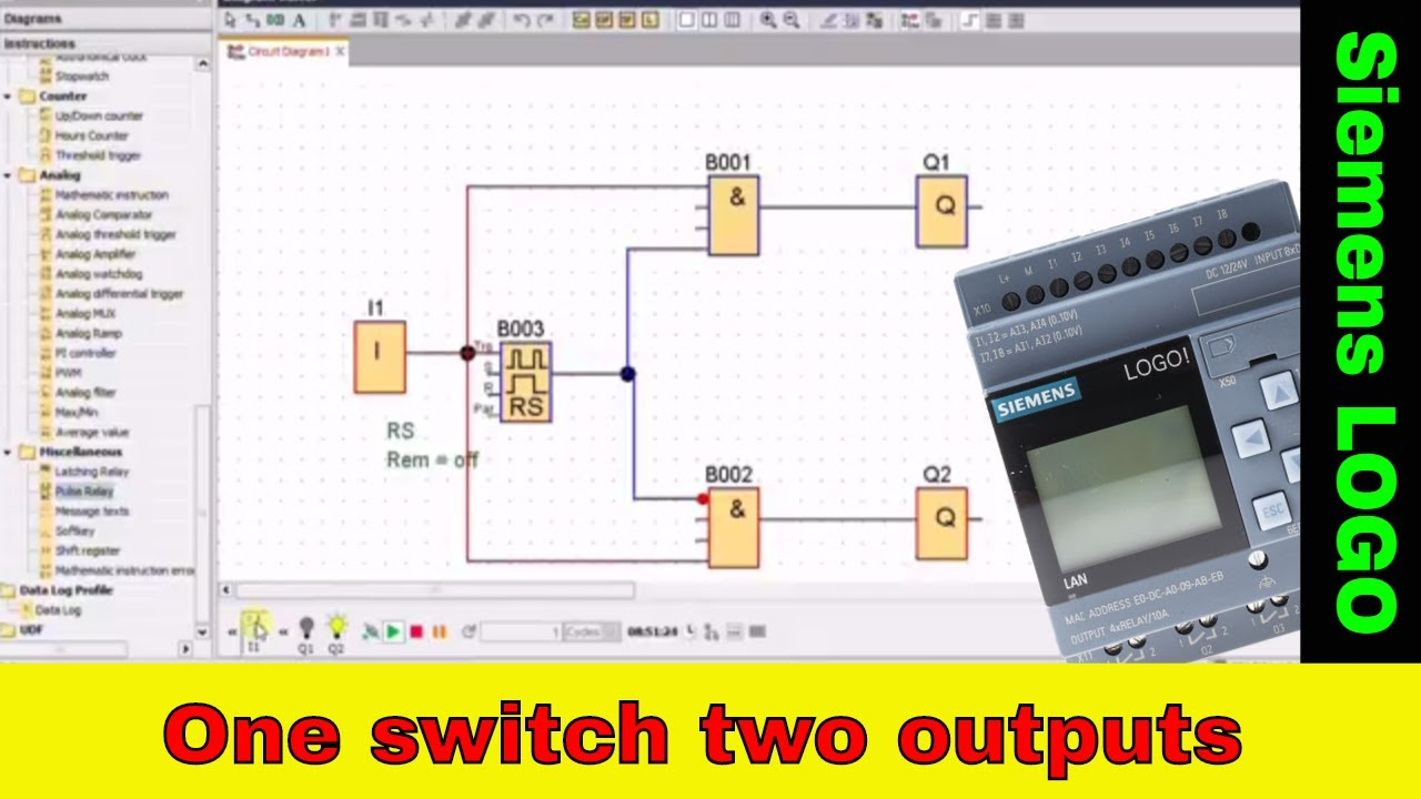 One Input Controlling Two Outputs V 1 Siemens Logo Plc Youtube