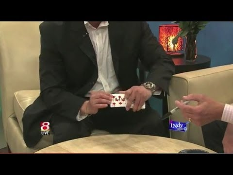 Magician David Ranalli's Card Magic Trick on TV in Indianapolis