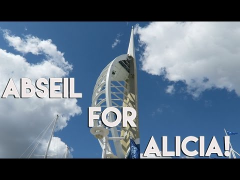 Abseil for Alicia Pannell - Emirates Spinnaker Tower - Portsmouth - April 2016