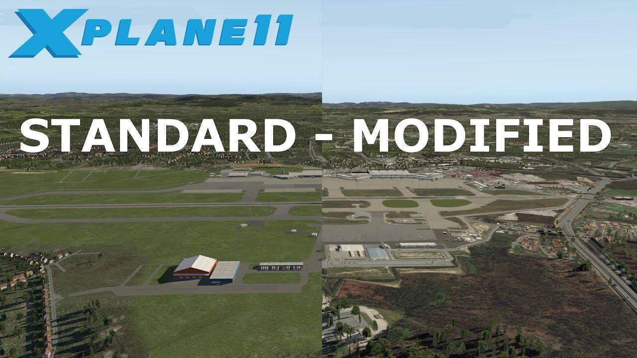 X Plane 11 Standard Scenery vs Custom Scenery with Ortho4XP