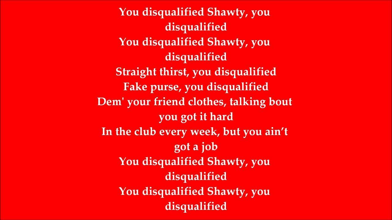 Yo gotti disqualified with lyrics youtube