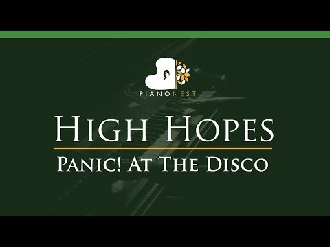 Panic! At The Disco - High Hopes - LOWER Key (Piano Karaoke / Sing Along)