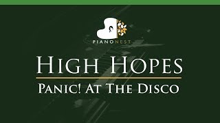 Panic! At The Disco - High Hopes - LOWER Key (Piano Karaoke / Sing Along)