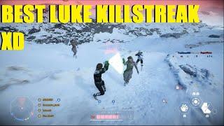 Star Wars Battlefront 2 - The BEST Luke Skywalker killstreak you will EVER see XD