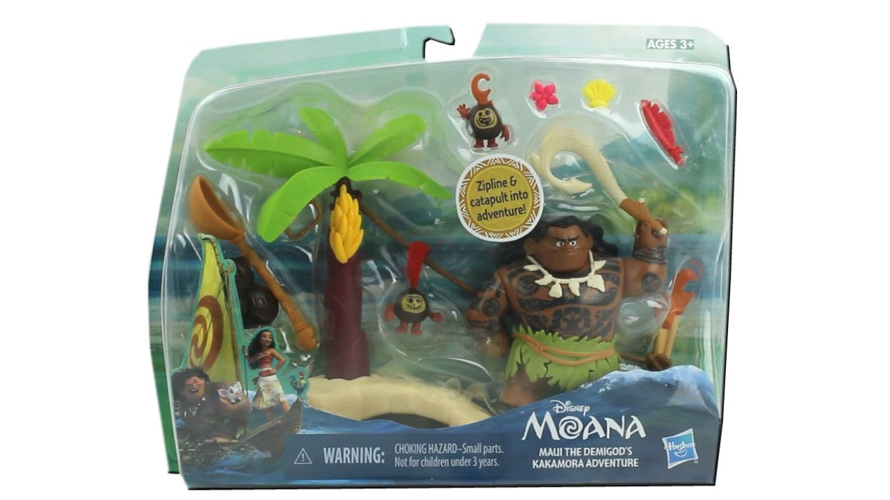 Disney Moana Figures Maui and the Demigod's Kakamora ...