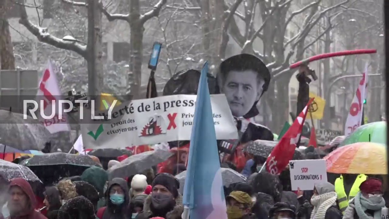 France: Hundreds march against security bill in Paris