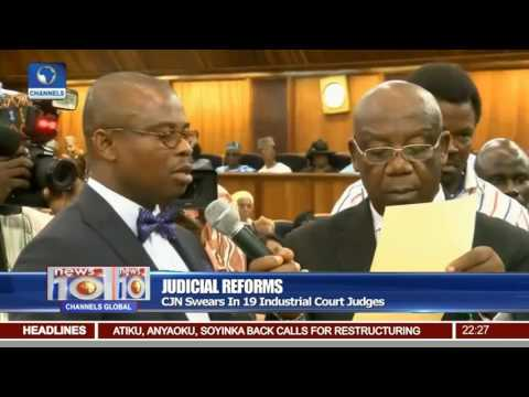 CJN Onnoghen Swears In 19 Industrial Court Judges