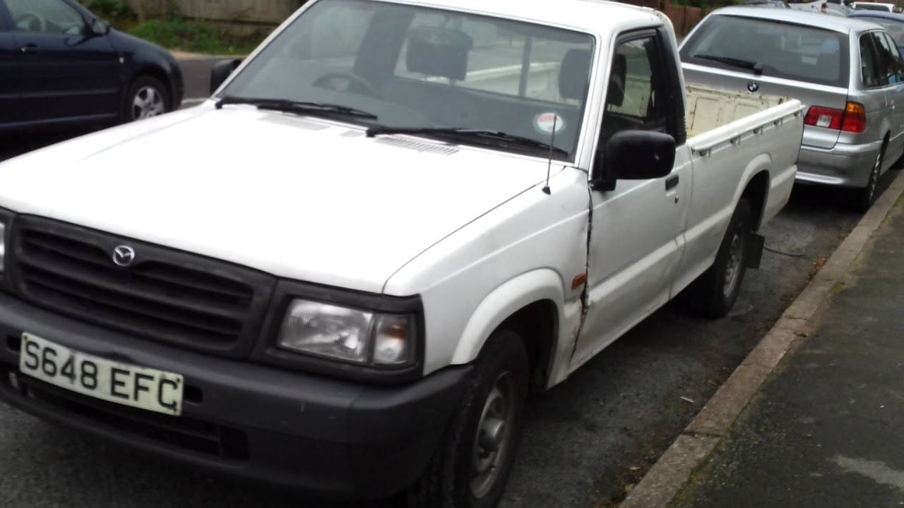 mazda diesel pickup truck ute b2500 for export single cab - YouTube
