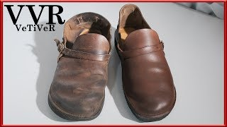 [ASMR] Clean & resole 'AURORA SHOE&CO' 'Middle English' leather shoes