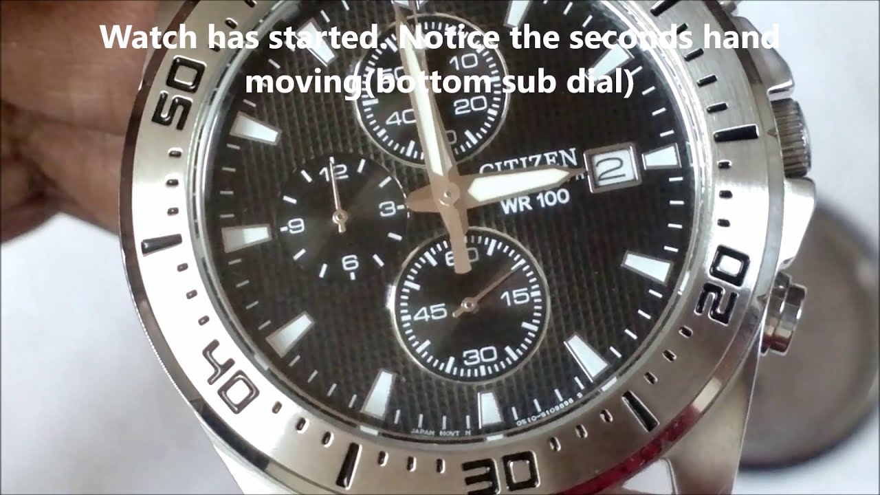 Citizen watch battery replacement an3460 youtube for Watches battery