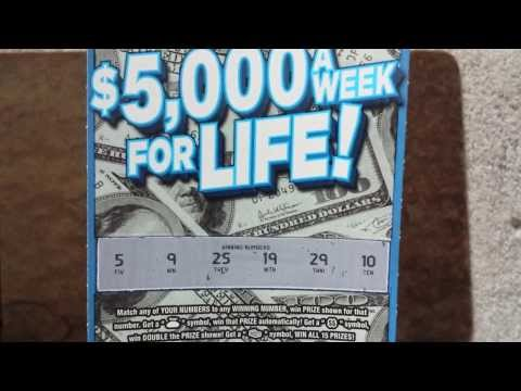 5000 A Week For Life Lottery Scratch Off