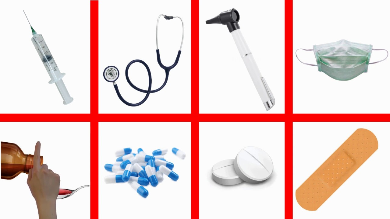 Learn English Doctor Kit Hospital Items First Aid Set ...