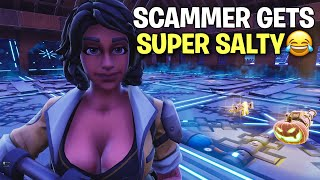 i showed a scammer why he shouldn't scam! 😂 (Scammer Get Scammed) Fortnite Save The World