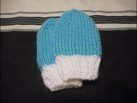 415b22dae8b tuto tricot moufles bébé 0 3 mois - YouTube