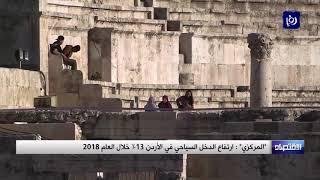 ارتفاع الدخل السياحي في الأردن 13% خلال العام 2018 - (17-1-2019)