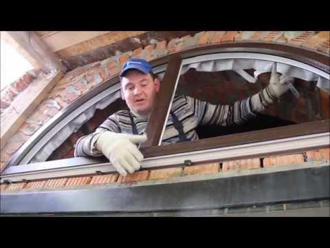 Особенности установки арочного окна