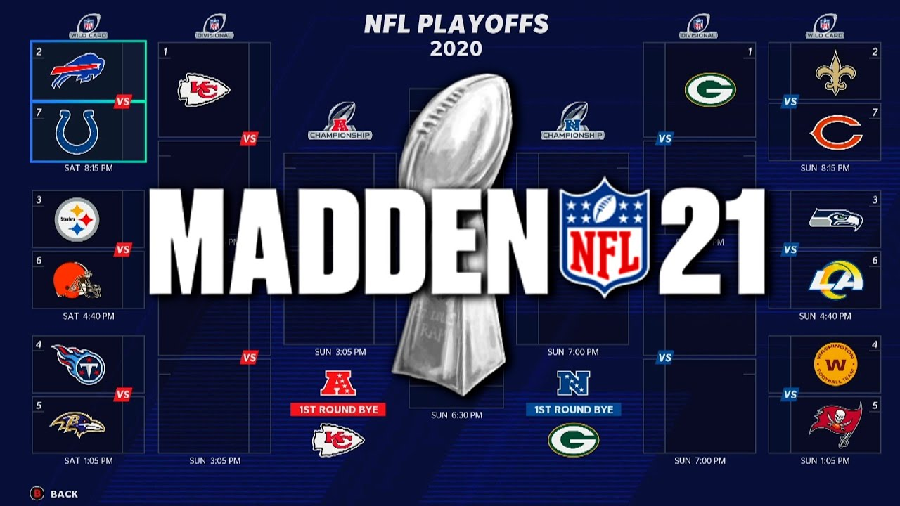 2021 Nfl Playoffs But Its Decided By Madden Youtube