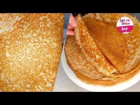 Видео: Блины на кефире стали ЕЩЁ нежнее, не зря я добавила ЕГО в тесто! Ажурные блинчики