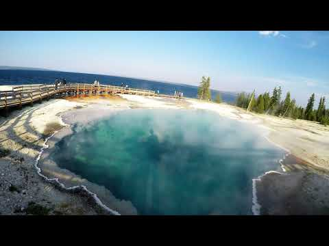 Visiting West Thumb Geyser Basin, Yellowstone