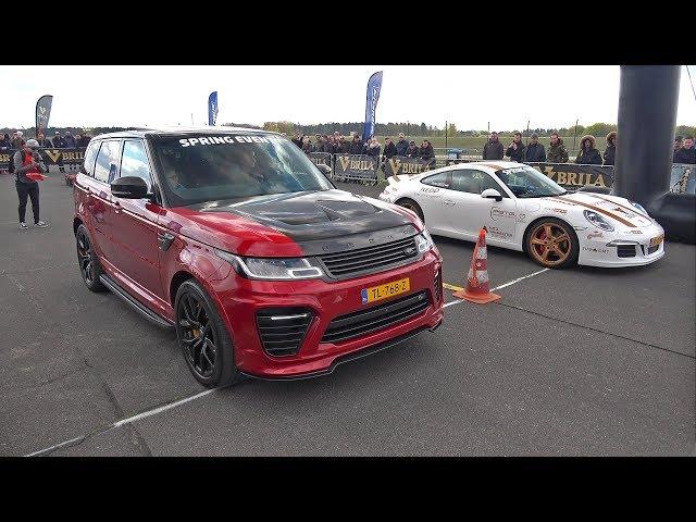 Land Rover Urban Range Rover Sport SVR vs Porsche Cayman GT4 vs Audi R8
