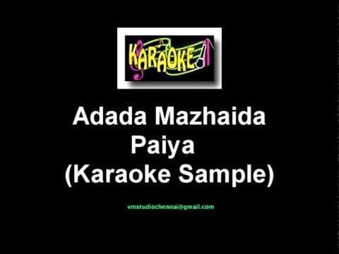 adada mazhaida karaoke songs