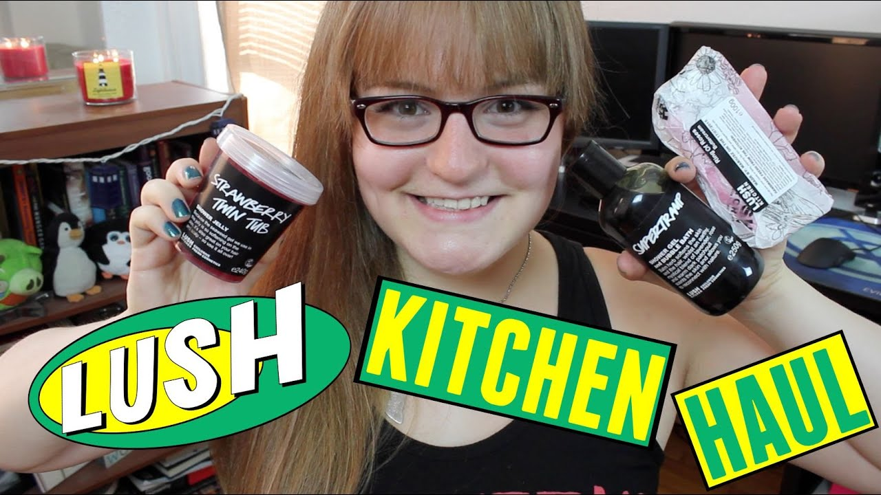 LUSH KITCHEN HAUL! | Exclusive Lush Products - YouTube